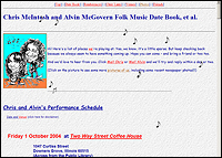 Picture of first McIntosh & McGovern website